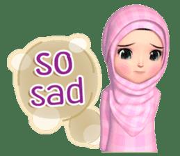 Amarena Muslim hijab girl-Eng sticker #14839429
