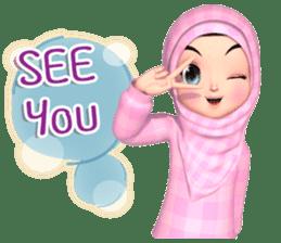 Amarena Muslim hijab girl-Eng sticker #14839430