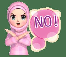 Amarena Muslim hijab girl-Eng sticker #14839435