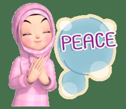 Amarena Muslim hijab girl-Eng sticker #14839437