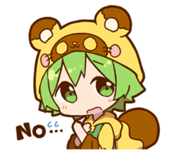 YUZUHA chan BOTAN kun Sticker sticker #14845091