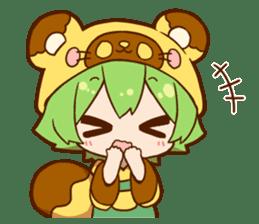 YUZUHA chan BOTAN kun Sticker sticker #14845103
