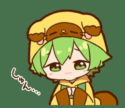 YUZUHA chan BOTAN kun Sticker sticker #14845113