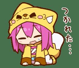 YUZUHA chan BOTAN kun Sticker sticker #14845120