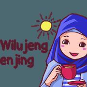 สติ๊กเกอร์ไลน์ Euis Geulis Hijab Girl Sunda (Animated)