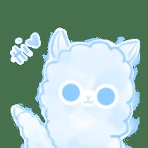 Doodle Alpaca sticker #14870486