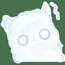 Doodle Alpaca sticker #14870499