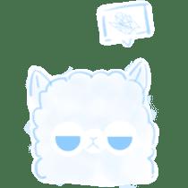 Doodle Alpaca sticker #14870502