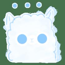 Doodle Alpaca sticker #14870503