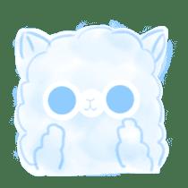 Doodle Alpaca sticker #14870505