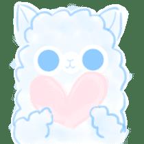 Doodle Alpaca sticker #14870513