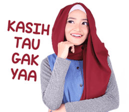 Flower Hijab: Zyana Regyna sticker #14871606