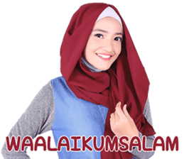 Flower Hijab: Zyana Regyna sticker #14871608