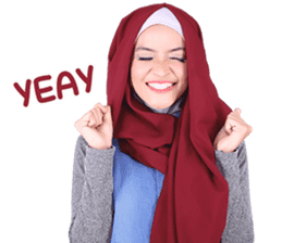 Flower Hijab: Zyana Regyna sticker #14871609