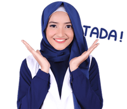 Flower Hijab: Zyana Regyna sticker #14871612