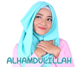 Flower Hijab: Zyana Regyna sticker #14871617