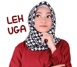 Flower Hijab: Zyana Regyna sticker #14871619