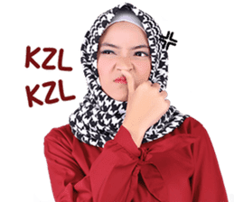 Flower Hijab: Zyana Regyna sticker #14871620