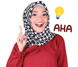 Flower Hijab: Zyana Regyna sticker #14871621