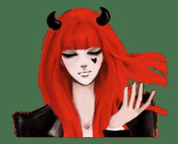 REA (Red devil girl) animation no.1 #NEW sticker #14873177