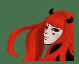 REA (Red devil girl) animation no.1 #NEW sticker #14873179
