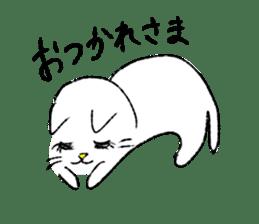 White cat,encourage. sticker #14890678