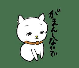 White cat,encourage. sticker #14890680