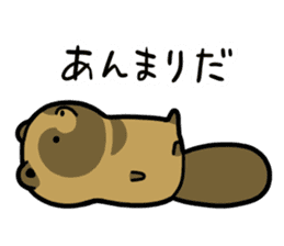 Raccoon dog & Fox 3 sticker #14894702