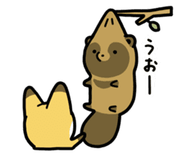 Raccoon dog & Fox 3 sticker #14894713