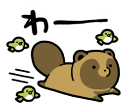 Raccoon dog & Fox 3 sticker #14894719