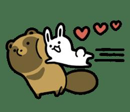 Raccoon dog & Fox 3 sticker #14894721