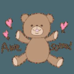The words of praise with Teddy bear
