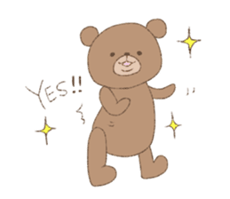 The words of praise with Teddy bear sticker #14896711