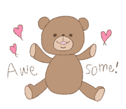 The words of praise with Teddy bear sticker #14896712
