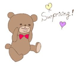 The words of praise with Teddy bear sticker #14896714