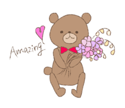 The words of praise with Teddy bear sticker #14896715