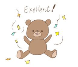 The words of praise with Teddy bear sticker #14896718