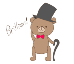 The words of praise with Teddy bear sticker #14896719