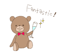 The words of praise with Teddy bear sticker #14896720