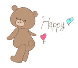 The words of praise with Teddy bear sticker #14896722