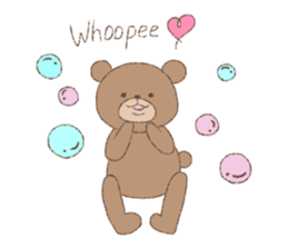 The words of praise with Teddy bear sticker #14896724