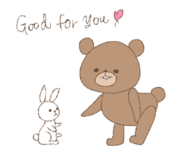 The words of praise with Teddy bear sticker #14896726