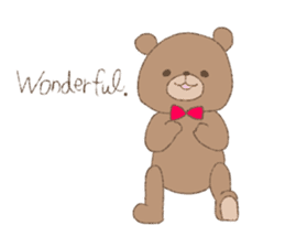 The words of praise with Teddy bear sticker #14896727