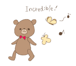 The words of praise with Teddy bear sticker #14896729