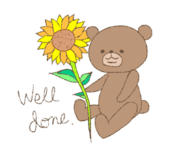 The words of praise with Teddy bear sticker #14896732
