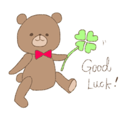 The words of praise with Teddy bear sticker #14896733