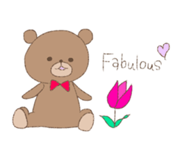 The words of praise with Teddy bear sticker #14896734