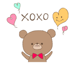 The words of praise with Teddy bear sticker #14896735
