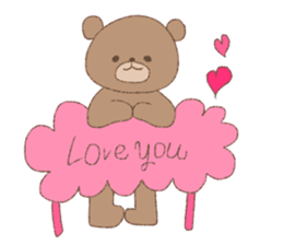 The words of praise with Teddy bear sticker #14896736