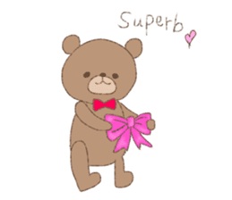 The words of praise with Teddy bear sticker #14896738